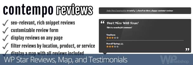 WP Star Reviews, Map, and Testimonials
